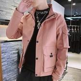 2020春秋季新款男士外套韓版潮流工裝夾克男裝休閒上衣服 雙十一全館免運