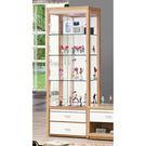 【森可家居】米堤原木色2尺展示櫃 7ZX369-3 客廳收納 玻璃 酒櫃 木紋質感