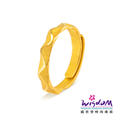 威世登 黃金戒指男戒 金重約1.64錢~1.66錢 愛情浪潮 愛情圈套黃金對戒系列 結婚金飾 GA00292B-GXX-FIX