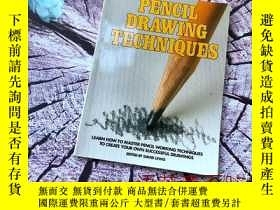 二手書博民逛書店英文原版書:Pencil罕見Drawing Techniques PENCIL DRAWING TECHNIQUE