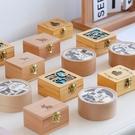 八音盒 木質復古手搖八音盒發條式音樂盒創意圣誕節禮品禮物【快速出貨八折鉅惠】
