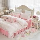 天絲床罩 標準雙人床罩 公主風床罩 蕾絲 粉嫩碎花 蕾絲床罩 結婚床罩 床裙組 荷葉邊 佛你企業