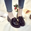樂福鞋 2021春秋新款套腳樂福鞋平底學生單鞋粗跟英倫小皮鞋百搭工作女鞋 小衣裡