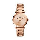 FOSSIL簡約優雅玫瑰金腕錶ES4441