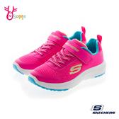 Skechers童鞋 女童運動鞋 記憶鞋墊運動鞋 輕量 透氣跑步鞋T8258#桃紅◆OSOME奧森鞋業