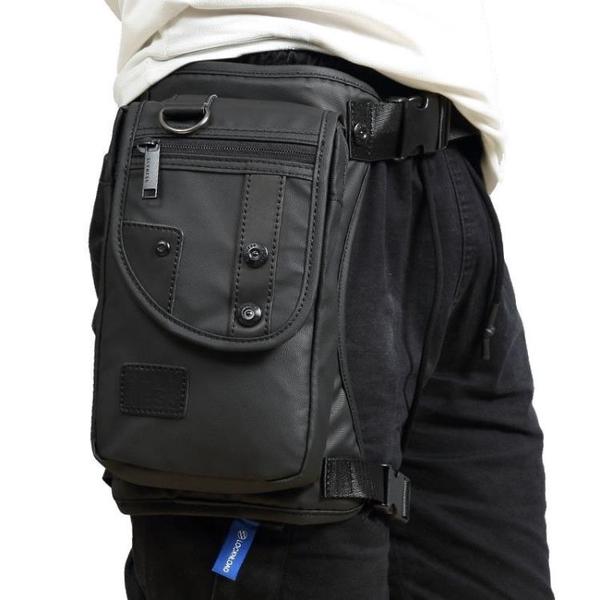 新款韓版潮流 腿包 時尚胸包多功能腰包防水尼龍料輕便男士斜跨包 黛尼時尚精品