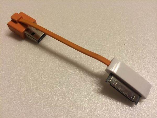 IPHONE 4 原廠30PIN轉接頭(IPHONE4充電救星)保證可傳輸數據照片和影片