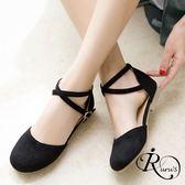 韓系簡約交叉扣環設計包頭涼鞋/3色/35-39碼 (RX0272-17-201) iRurus 路絲時尚
