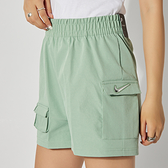 Nike AS W NSW Swsh Short WVN HR 女 湖水綠 運動 休閒 短褲 CZ9382-006