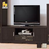 ASSARI-(黑檀)仿古風4尺電視櫃(寬120*深39*高51cm)