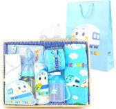 新幹線嬰兒用品竹籃彌月禮盒組毛巾奶瓶奶嘴水壺圍兜內衣080150通販屋
