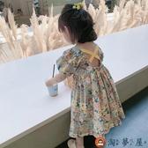 兒童碎花裙女童泡泡短袖連身裙童裝公主裙子純棉【淘夢屋】