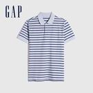Gap男裝 條紋朱蒂網眼布POLO衫 833270-藍白條紋