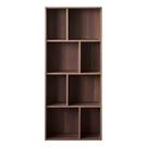 空櫃 收納架 收納櫃【收納屋】創意四層八格櫃-胡桃木色& DIY組合傢俱