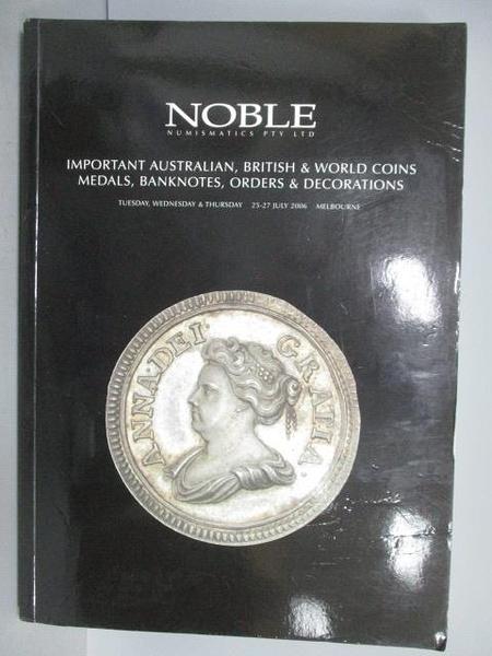 【書寶二手書T6/收藏_ESF】NOBLE Numismatics Pty Ltd_Australian…