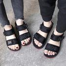 夏季情侶涼鞋 休閒沙灘鞋 戶外平底運動鞋...