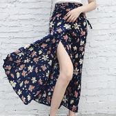 印花長裙 性感海灘裙 艾爾莎 【TAE7572】