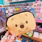 正版 迪士尼系列 雙面皮革零錢包 鑰匙圈零錢包 收納包 票卡收納包 小熊維尼款 COCOS WZ075