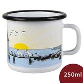 Muurla 嚕嚕米馬克杯 夕陽日落 白色 250ml