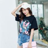 ★韓美姬★中大尺碼~圓領卡通印花短袖T恤上衣(XL~5XL)