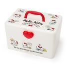 【震撼精品百貨】Hello Kitty 凱蒂貓~HELO KITTY收納提箱-紅愛心