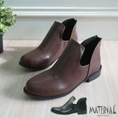 短靴 側空U型平底短靴 MA女鞋 T8023
