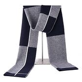 羊毛圍巾-格子保暖加厚時尚男披肩4色73wh3【時尚巴黎】