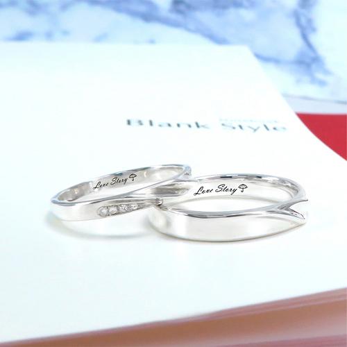 經典愛情故事 小鑽雙流線刻字對戒 訂製戒指 純銀戒指(一對)