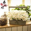 仿真花假花玫瑰花套裝家居飾品客廳擺件美式木藝盆栽壁掛提籃花籃