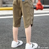 童裝男童夏天短褲兒童休閒薄褲子涼爽夏裝中大童