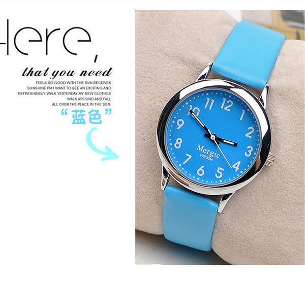 兒童手錶 兒童手錶女孩時尚男孩皮帶學生大童小孩子數字電子指針式腕表