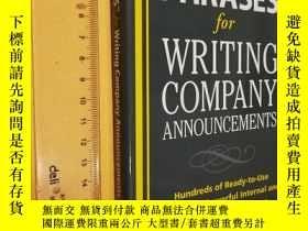 二手書博民逛書店英文原版罕見管理類 Perfect Phrases for Writing Company Announcemen