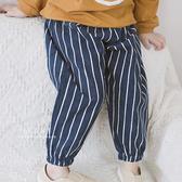 日系燈心絨束口長褲 直條紋 褲子 童裝 束口褲
