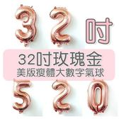 [拉拉百貨]32吋 玫瑰金數字氣球 派對 慶生 DIY佈置 寶寶生日 求婚 婚紗 週年 活動佈置
