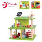 【德國 classic world】客來喜木頭玩具 雙層環保木屋 (14pcs) CL2499