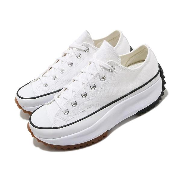 Converse 休閒鞋 Run Star Hike Low 白 黑 女鞋 低筒 鋸齒鞋 厚底 【ACS】 168817C