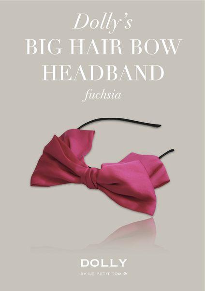 【荷蘭 DOLLY】手工大蝴蝶結髮箍_ 紫紅款 #HEADB11