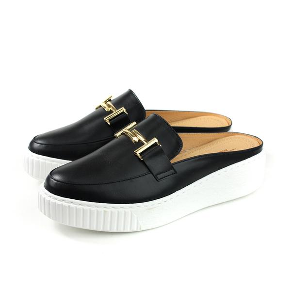 HUMAN PEACE 休閒鞋 懶人鞋 黑色 牛皮 女鞋 8536 no379