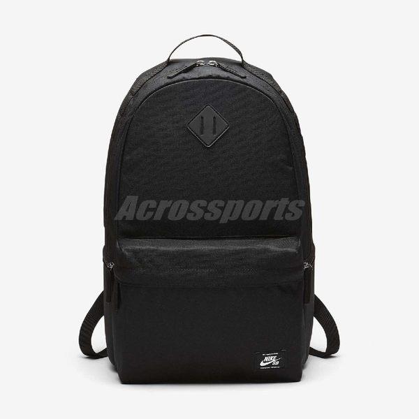 Nike 後背包 SB Icon Backpack 男女款 滑板 極限運動 雙肩背 包包 書包 素面 黑 【PUMP306】 BA5727-010