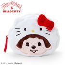 【震撼精品百貨】Hello Kitty 凱蒂貓~HELLO KITTY*夢奇奇MONCHHICHI系列裝扮大臉造型絨毛化妝包