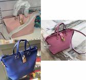 ★專櫃62折! Dolce & Gabbana 柔軟小牛皮花朵鎖頭兩用包 寶藍/ 裸粉/ 粉色