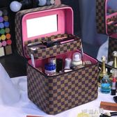 化妝包 多功能化妝包大容量雙層收納盒品女網紅ins風超火便攜手提簡約箱 9號潮人館