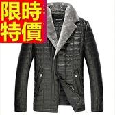 真皮羽絨外套-非凡美式風禦寒羊皮男皮衣夾克62w67【巴黎精品】