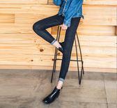 2018春夏季新款牛仔褲女長褲高腰九分小腳彈力黑色學生鉛筆褲 普斯達旗艦店