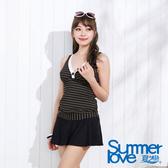 【SUMMERLOVE夏之戀】時尚條紋三件式泳裝-E12792