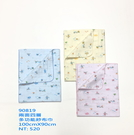 舒適牌 色底印花紗布 多功能巾(四層紗)台灣製