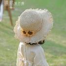 兒童防曬帽兒童草帽夏季遮陽防曬帽寶寶太陽帽漁夫帽公主帽子沙灘帽女童涼帽 快速出貨