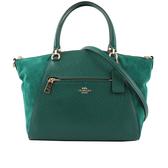【COACH】麂皮+皮革口袋手提/斜背二用包(湖水綠) F79999 IMVIR