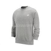 Nike 長袖T恤 NSW Club Crew 灰 白 男款 大學T 運動休閒 【ACS】 BV2667-063