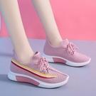 休閒鞋 網紅爆款飛織鞋女夏季新款女輕便襪子鞋韓版潮流百搭休閒運動鞋女「草莓妞妞」